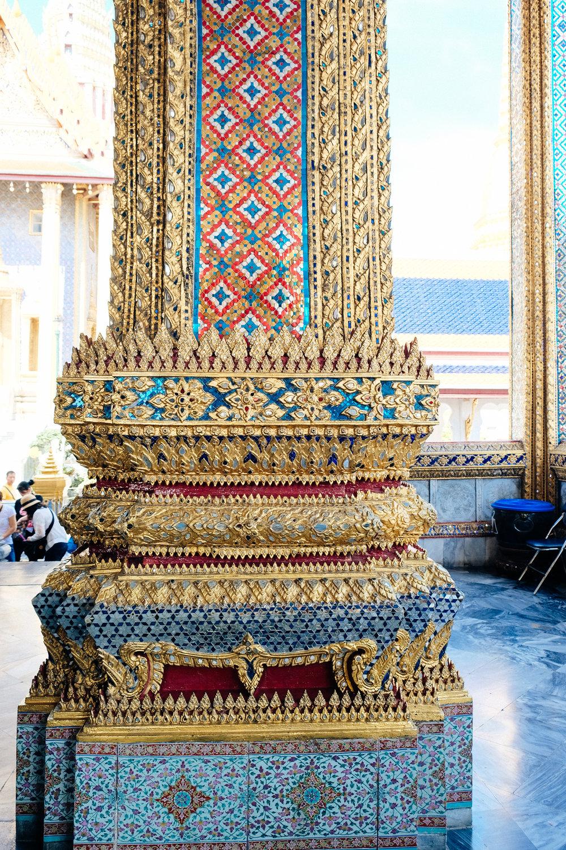 Details of a pillar.