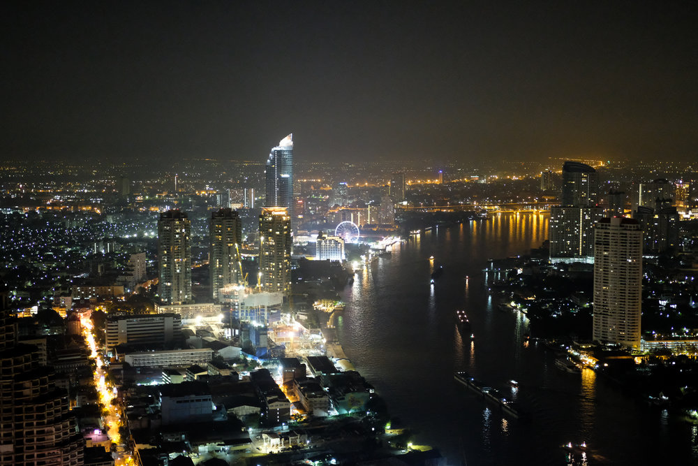 View of Chao Phraya River from Sky Bar.
