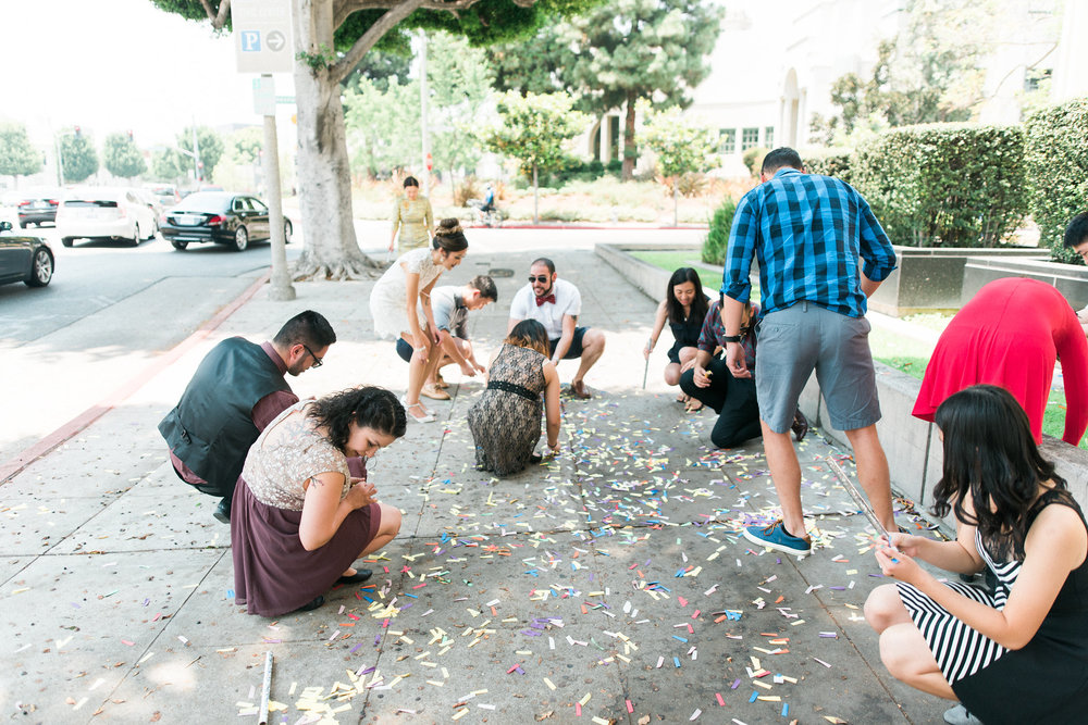 The confetti aftermath..lol