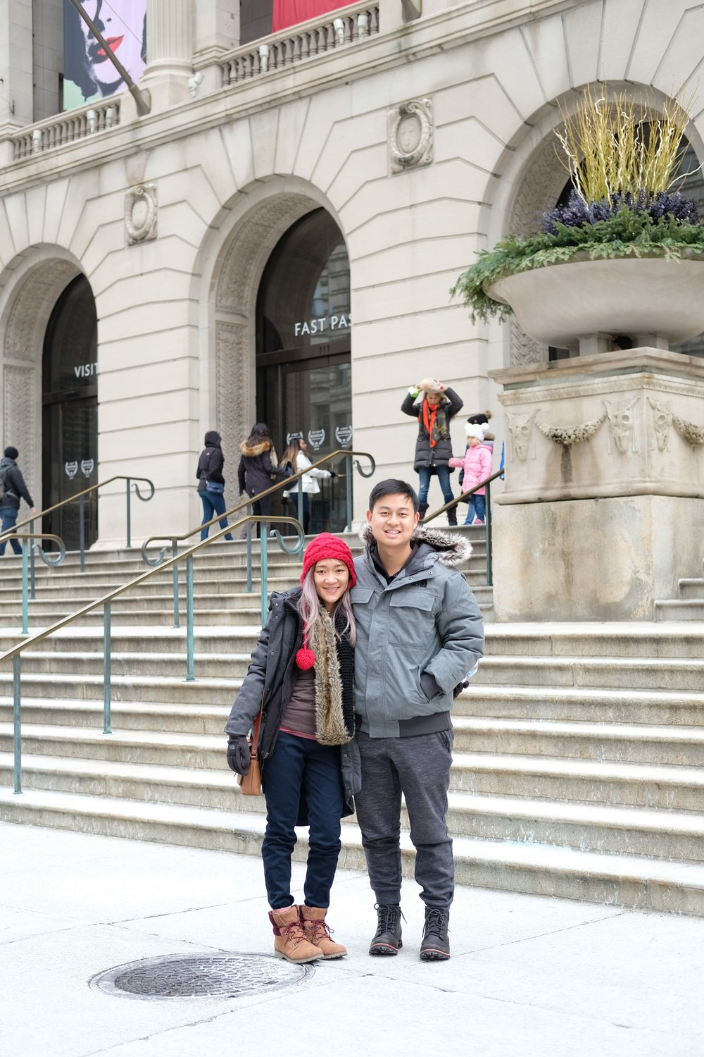 Us in front of The Art Institute of Chicago
