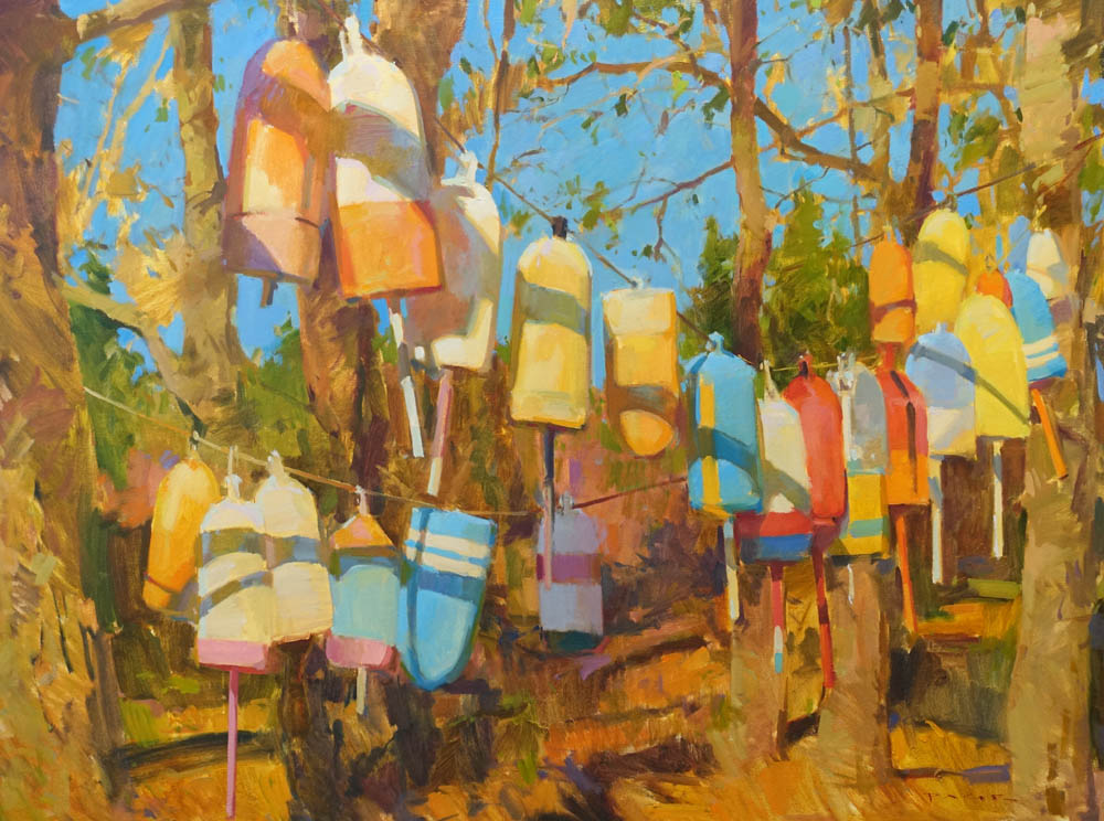 "Hanging Buoys  36x48"" oil on canvas"