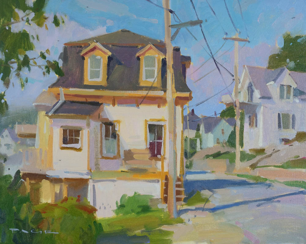 "Mansard Roof  16x20"" oil on canvas"