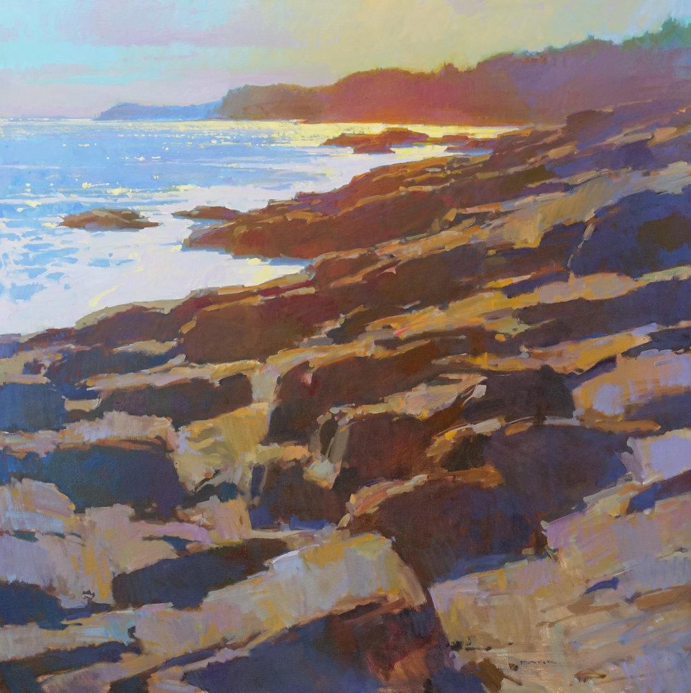 "Coastal Color  available through the artist's studio  48x48"" oil on canvas $15,000"