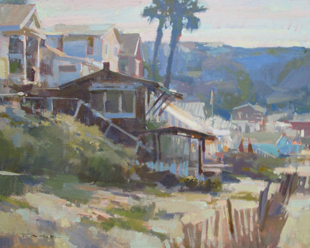 "Crystal Cove Cottage  Laguna Beach, CA  Available at Debra Huse Gallery, CA  16x20"" oil on panel $2000"