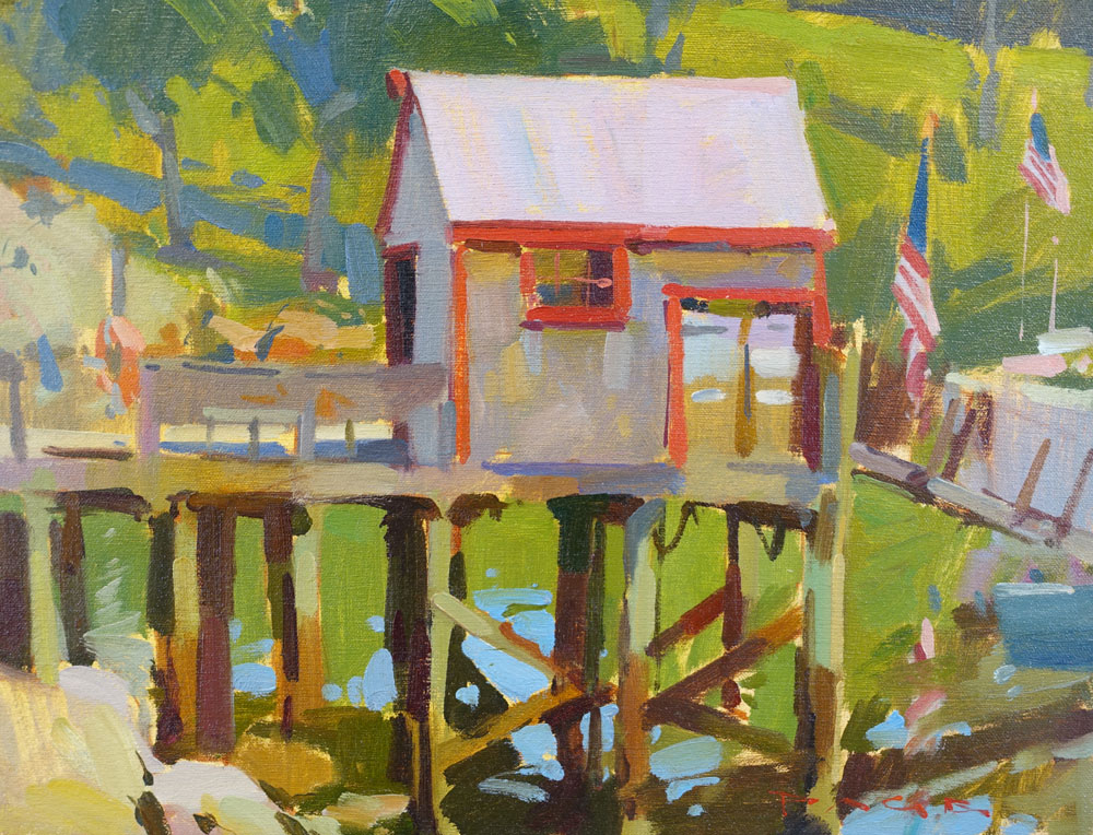 """Fuel Dock  12x16"""" oil on canvas $1500  Available from the artist"""