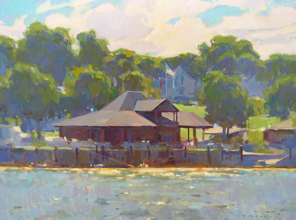 """Camden Yacht Club  30x40"""" oil on canvas $8500  On display at Dowling Walsh Gallery"""