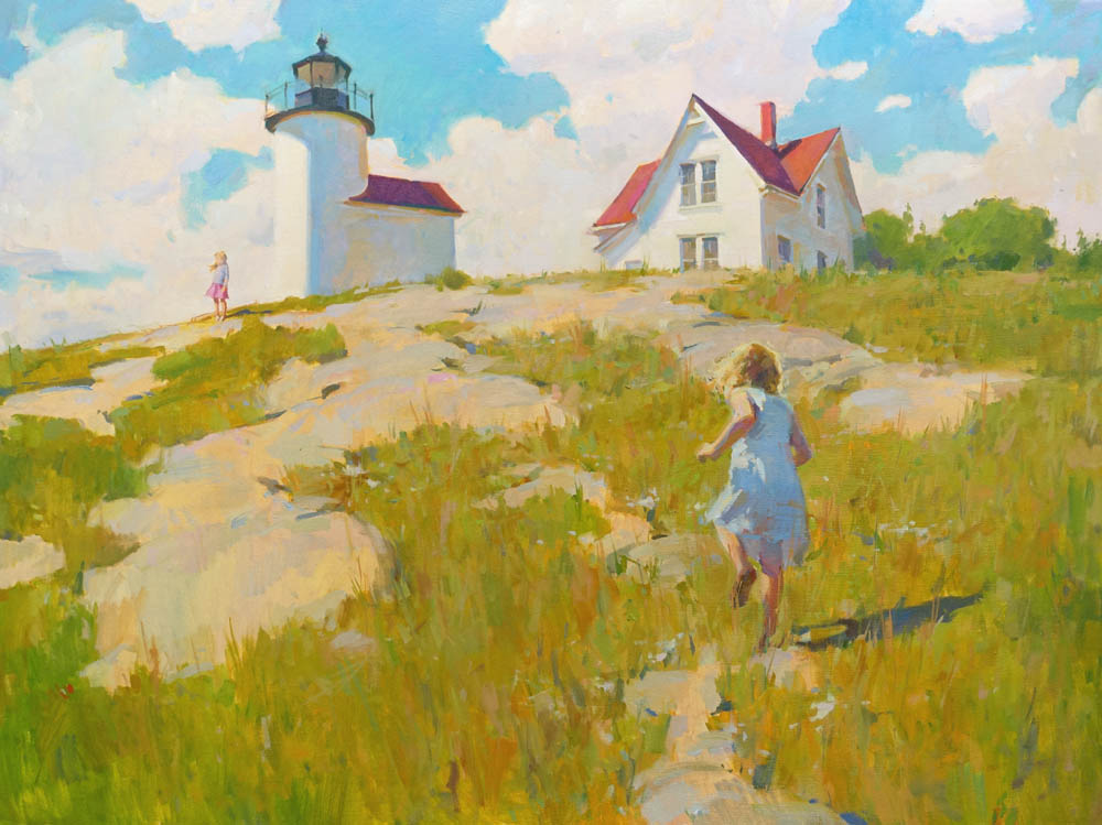 "Island Explorers  36x48"" oil on canvas"