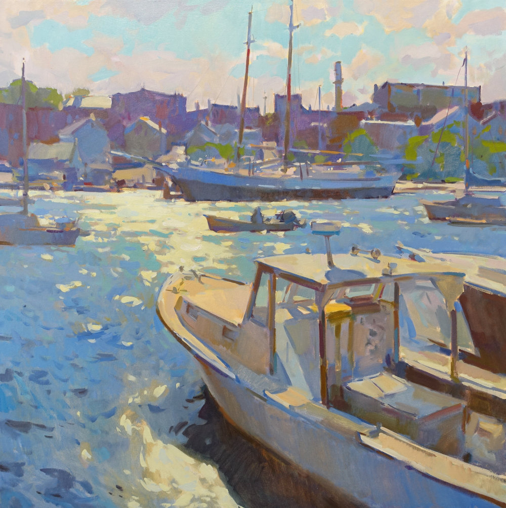 """Wayfarer View  36x36"""" oil on  canvas $8500  on display at Dowling Walsh Gallery"""