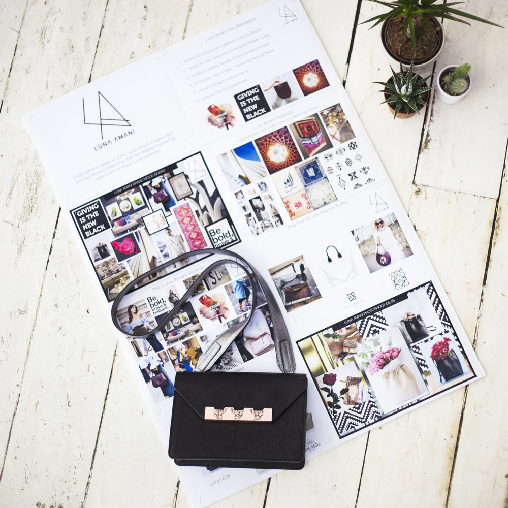STEP 1.PRE-PRODUCTION - A day meeting, research and moodboard development allows us to put together a tailored package that guarantees a brand focused photoshoot for each of our clients needs.