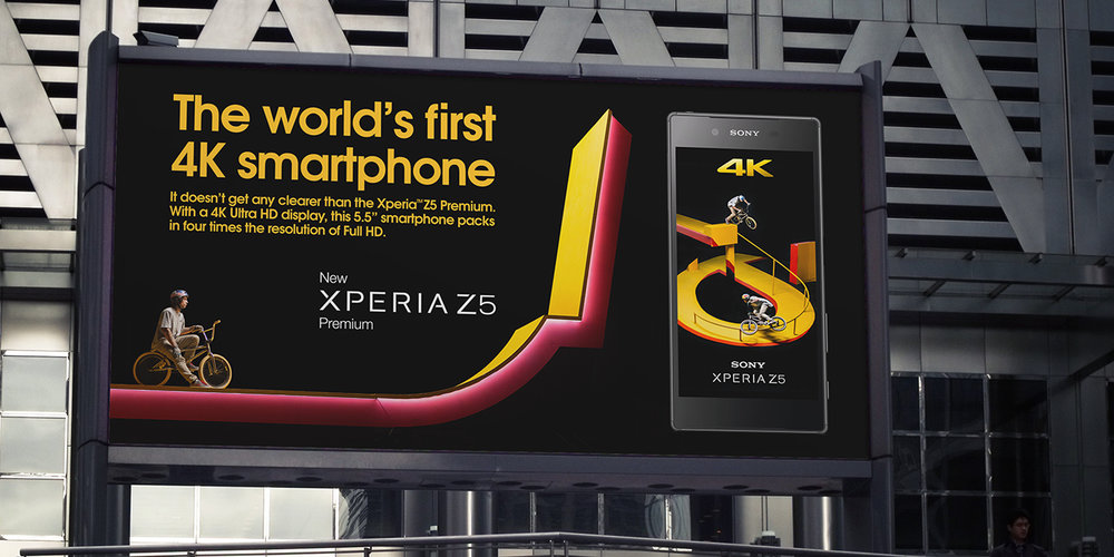Production of above the line billboard campaign for Kaleidoscope in partnership with Sony Xperia Z5