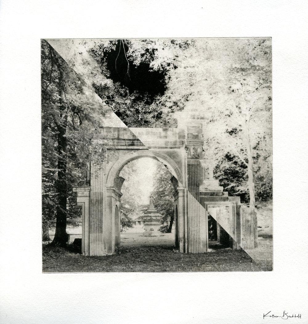 Ruinenbogen Version in schwarz