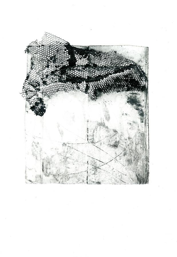 Collagraphie und Kaltnadel auf Tetrapak