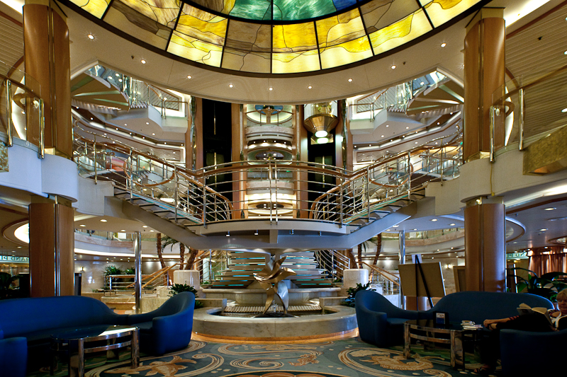 Interior shot of the Majesty of the Seas
