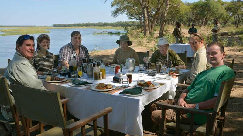 Lunch by the Zambezi