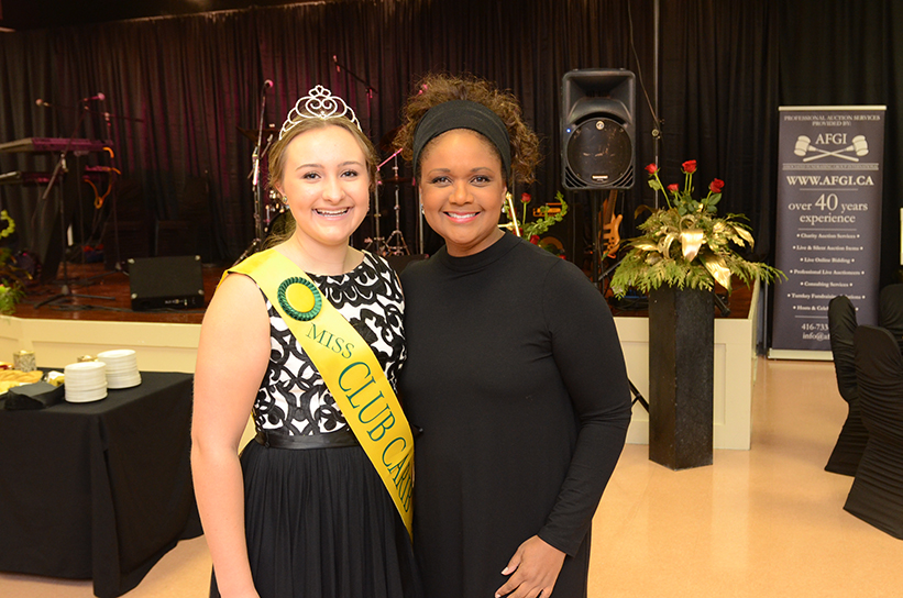 Tonya Lee Williams and 2016 Miss Club Carib Emmeline Meens