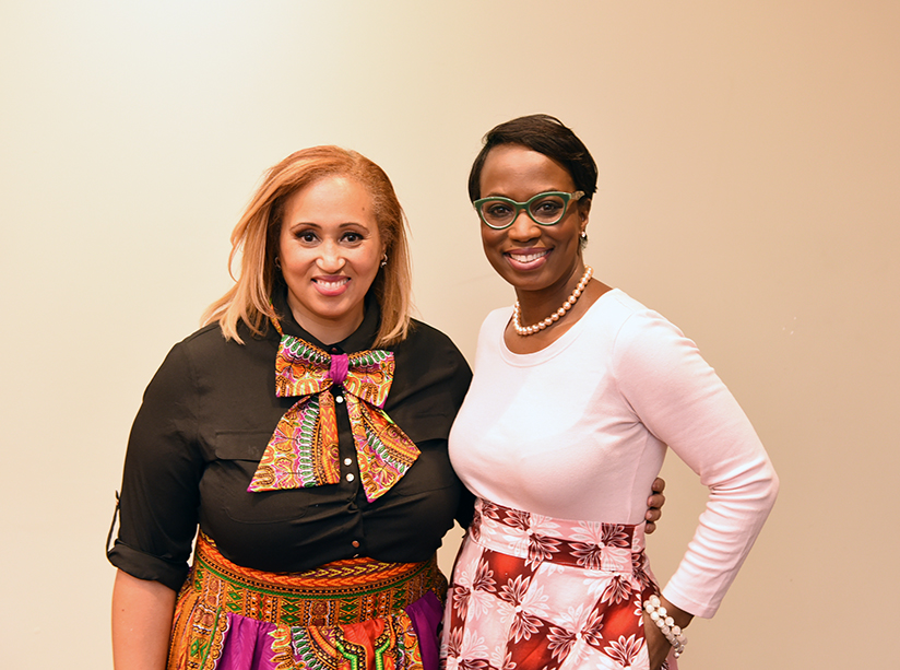 OBHS president Nikki Clarke (l) and MP Celina Caesar-Chavannes