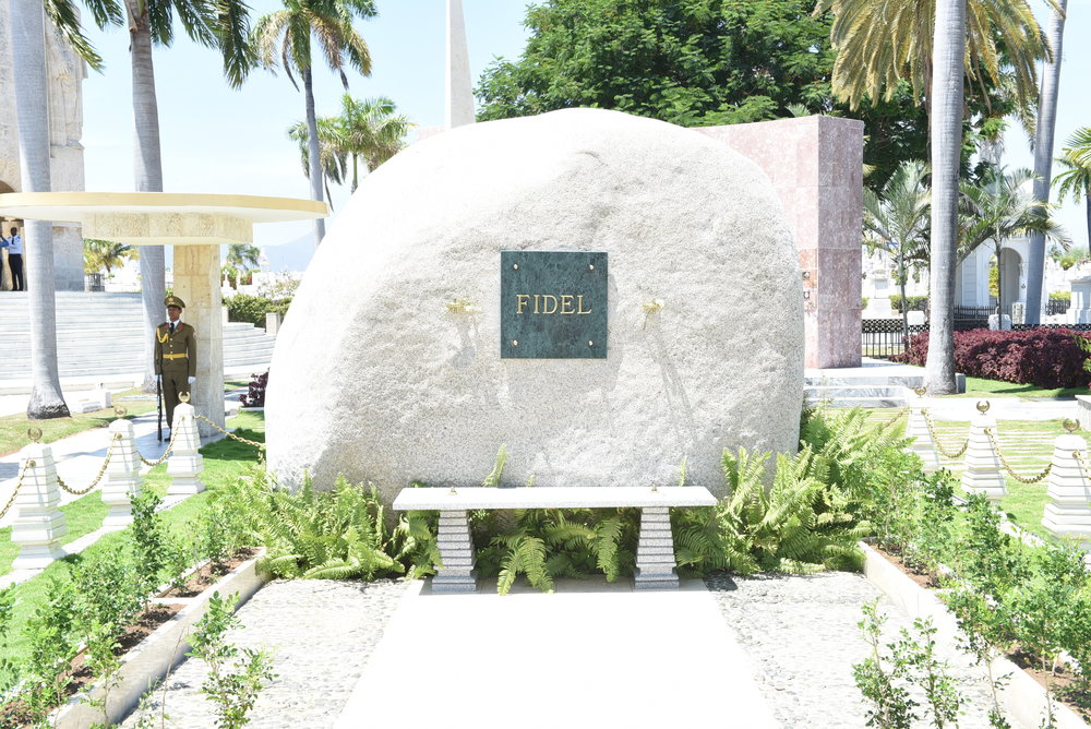 The urn bearing Fidel Castro's ashes is in this boulder