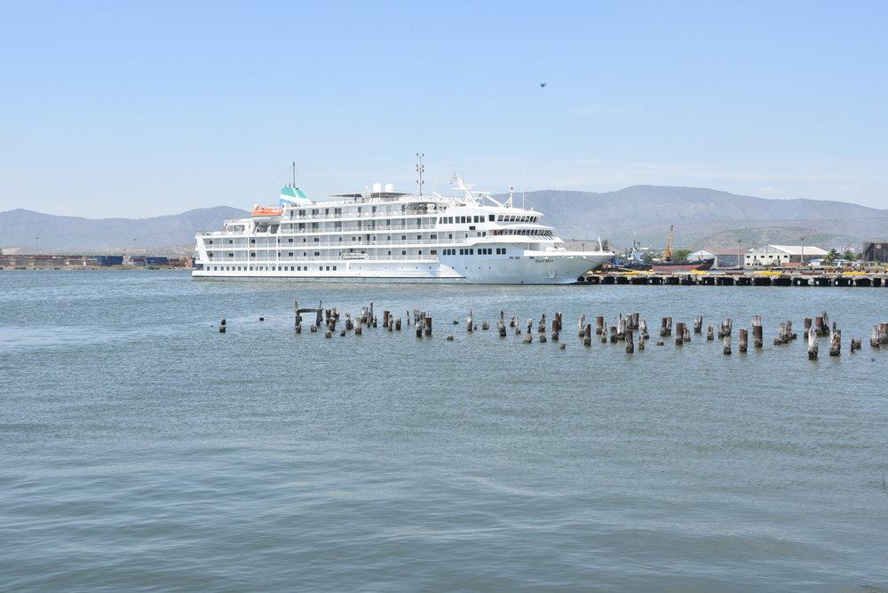 Pearl Mist docked in Santiago de Cuba
