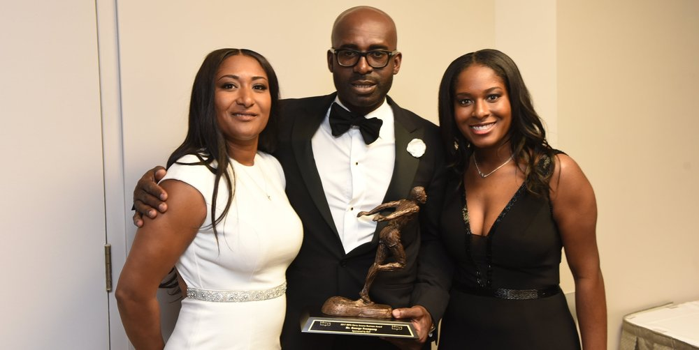 George Frempong with wife Doceta (l) and their daughter Acacia