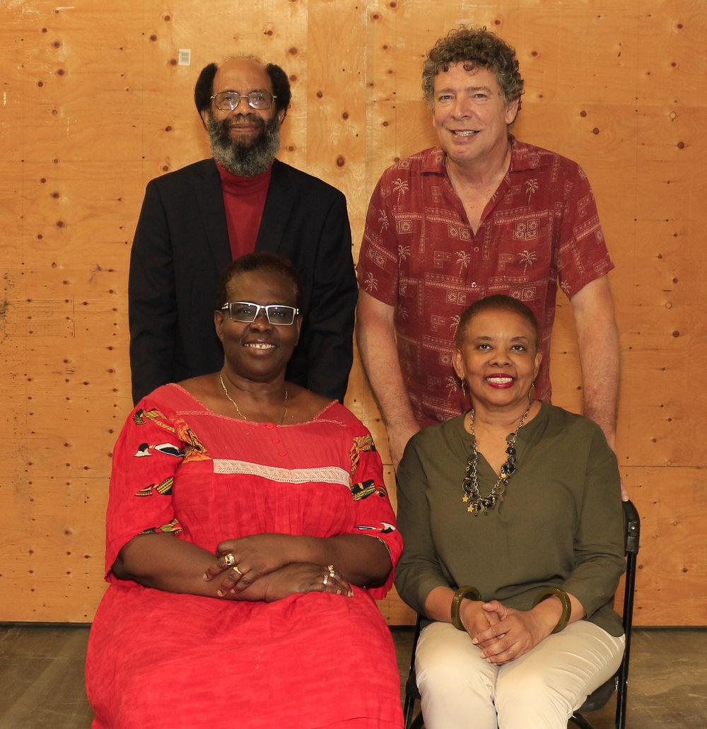 Michael Lashley (l), Roger Gibbs, Rhoma Spencer and Judith Lezama (l)