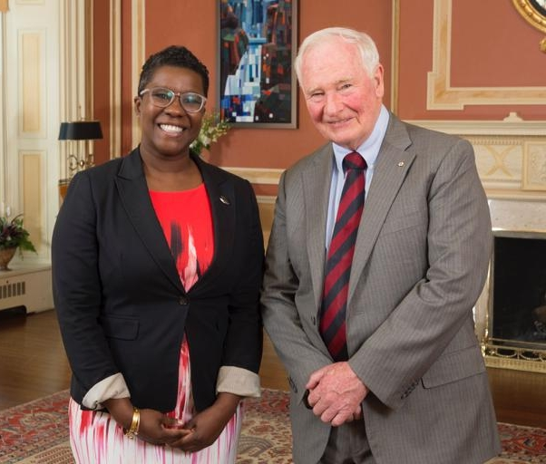 Nadia Theodore and Governor General David Johnston