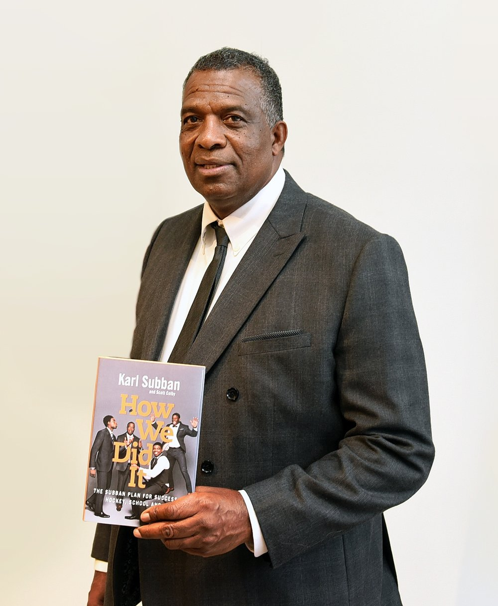 Karl Subban with his new book