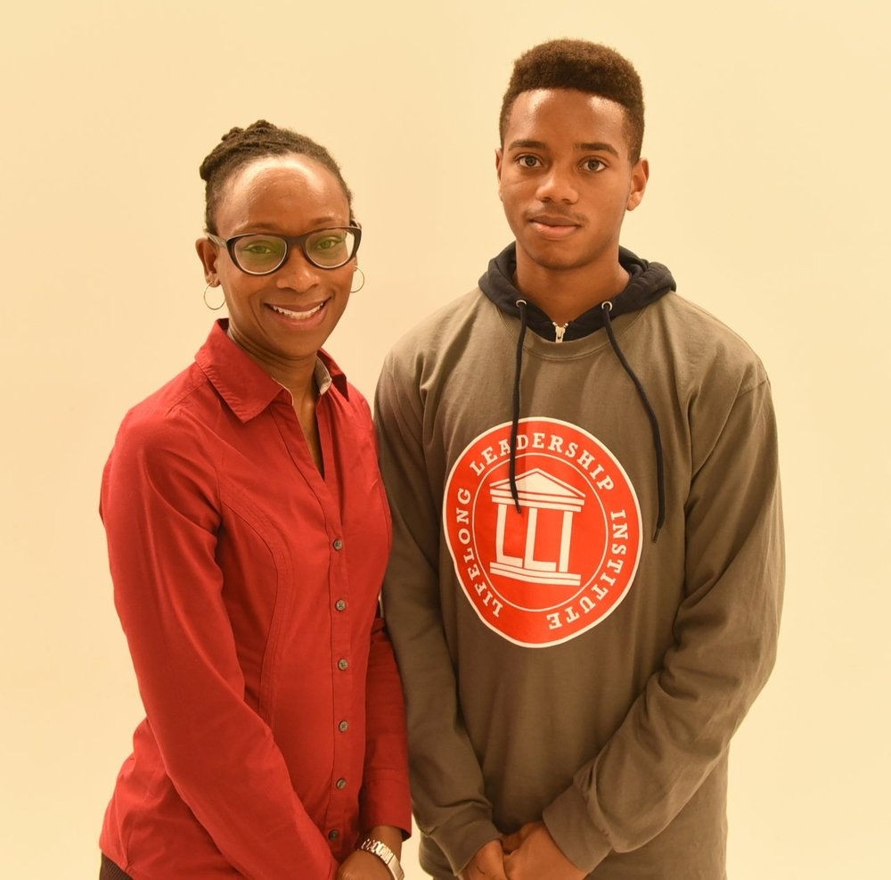 JCA president Adaoma Patterson & her son Simeon Patterson-Sharpe
