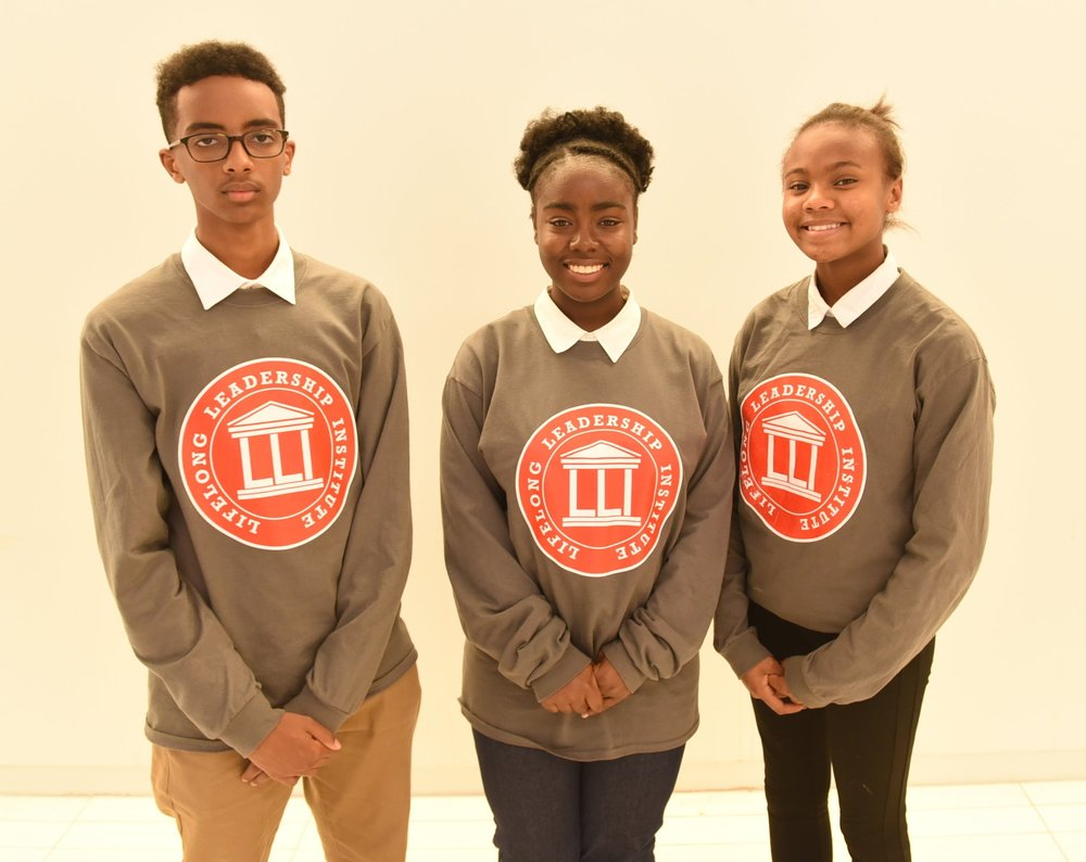 Hashi Warsame (l), Hannah Cowan & Aaliyah Chang are members of the second cohort