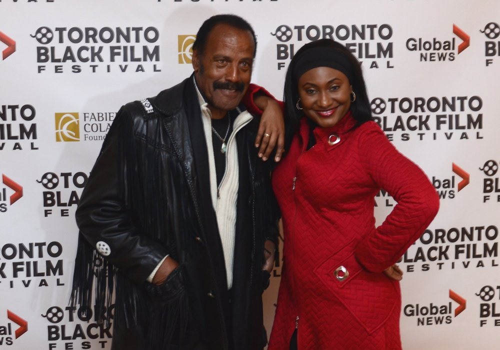 Fred Williamson and TBFF founder Fabienne Colas