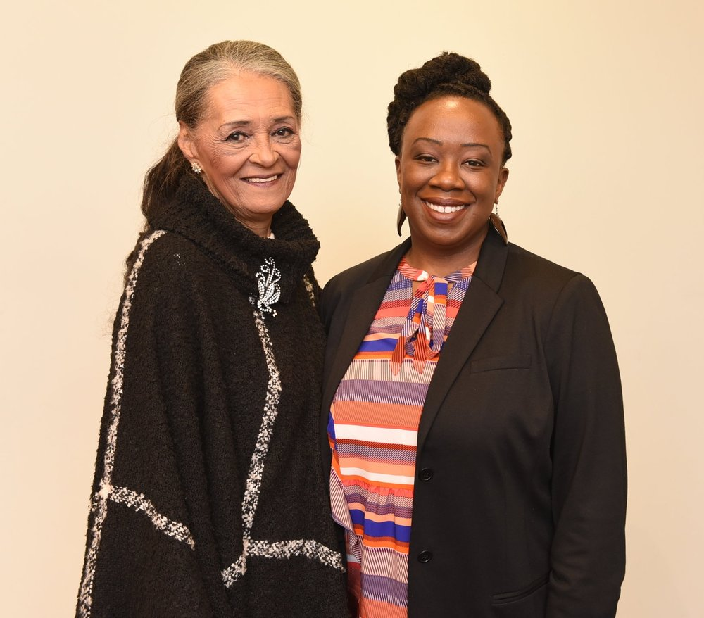 OBHS president Natasha Henry (r) with Janie Cooper-Wilson