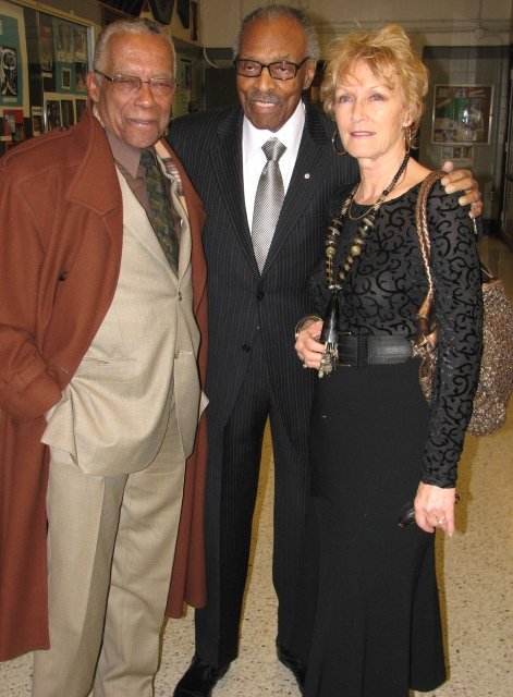 Marni Beal with her late husband Lincoln Alexander (c) and Dr. Howard McCurdy
