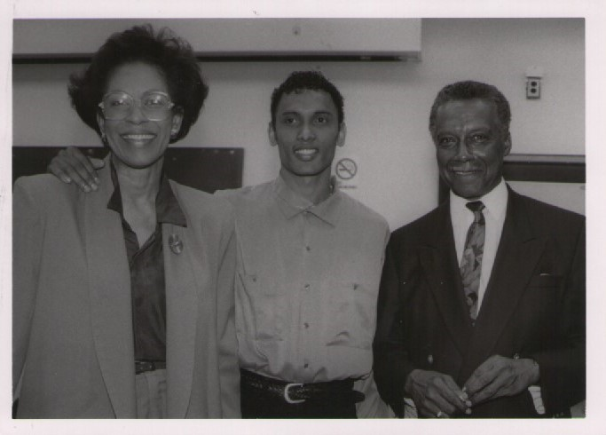 Dr. Howard McCurdy (r) with Zanana Akande and Dr. Wesley Crichlow