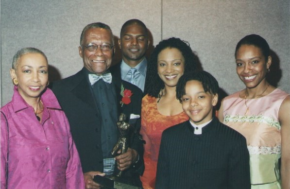 Dr. Howard McCurdy and his family at the 2002 Harry Jerome Awards