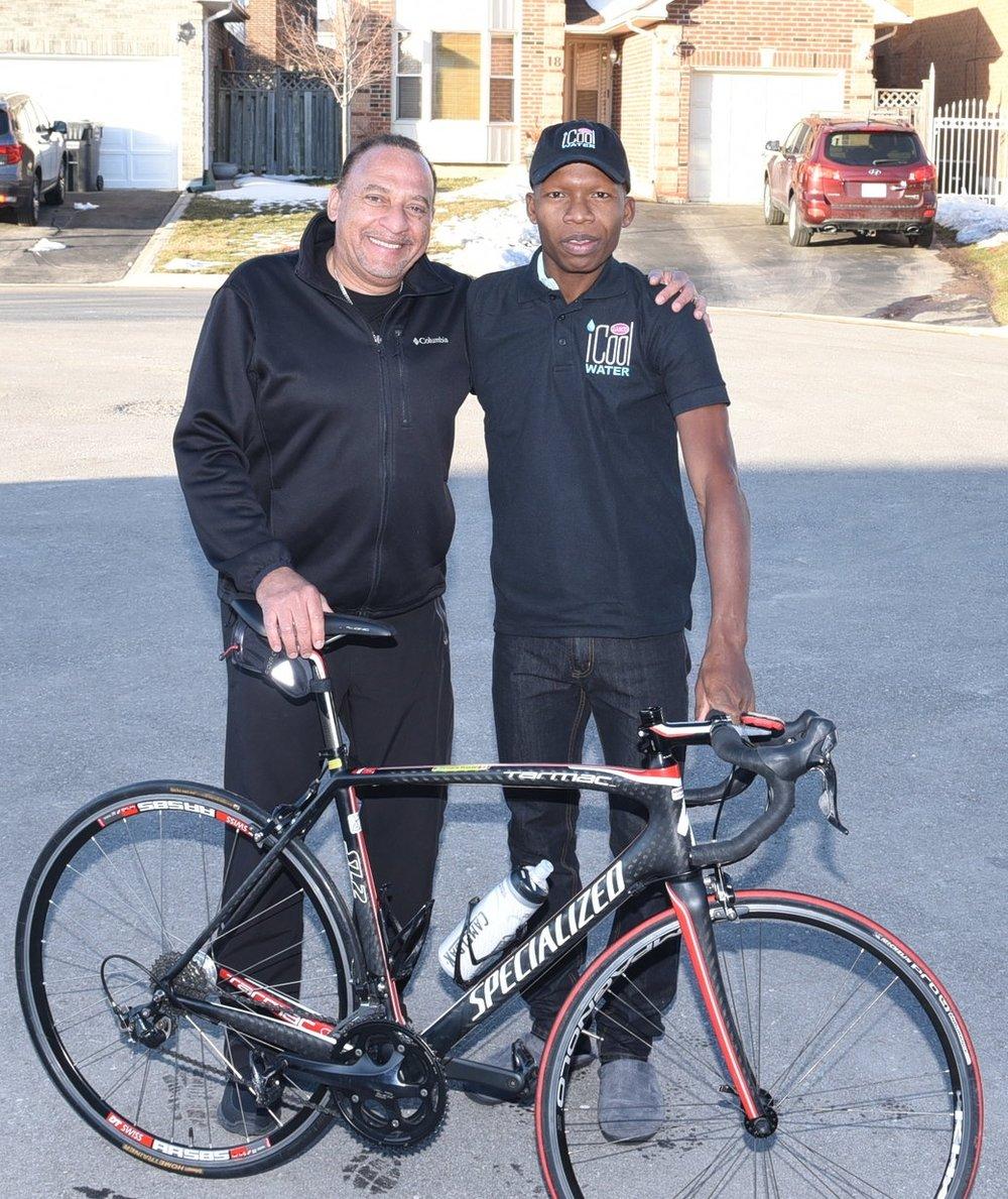 Walter Grant-Stuart (r) and coach Wayne Henry