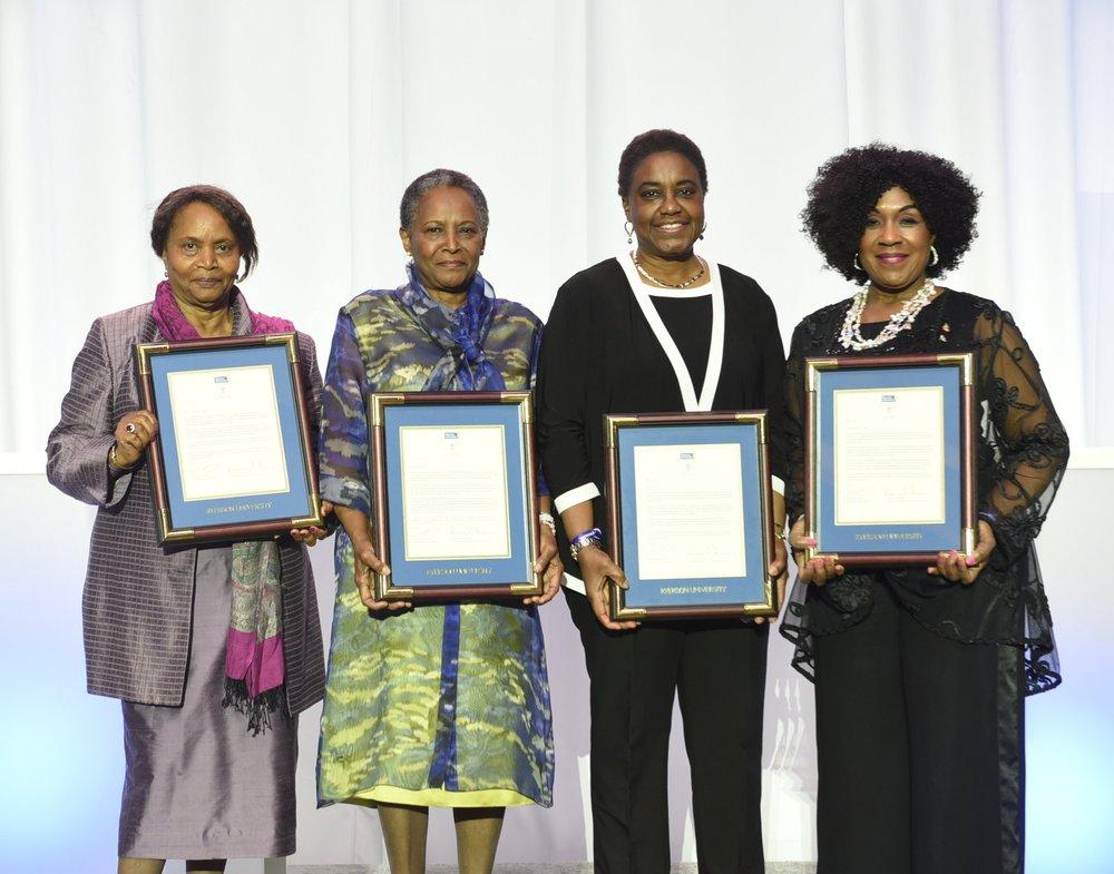 Pamela Appelt (l), Vivian Barbot, Dr. Malinda Smith & Mayann Francis