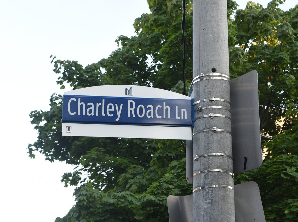 Charley Roach Lane was unveiled on July 18