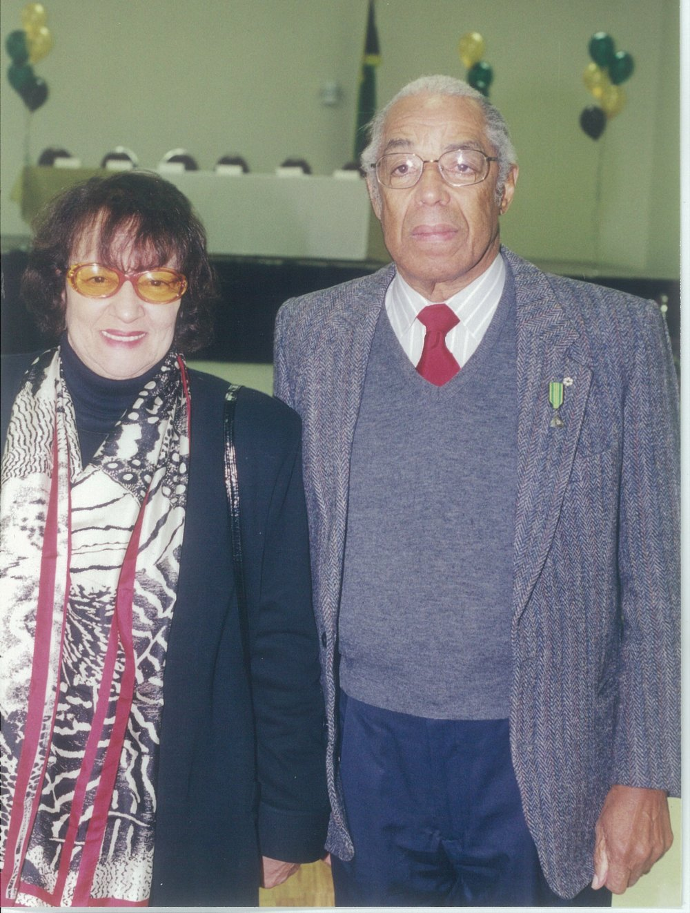 Dr. Mavis Burke attended Bromley Armstrong's funeral
