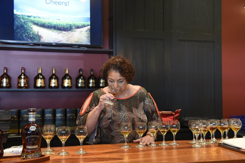 Joy Spence samples the journalists' blends