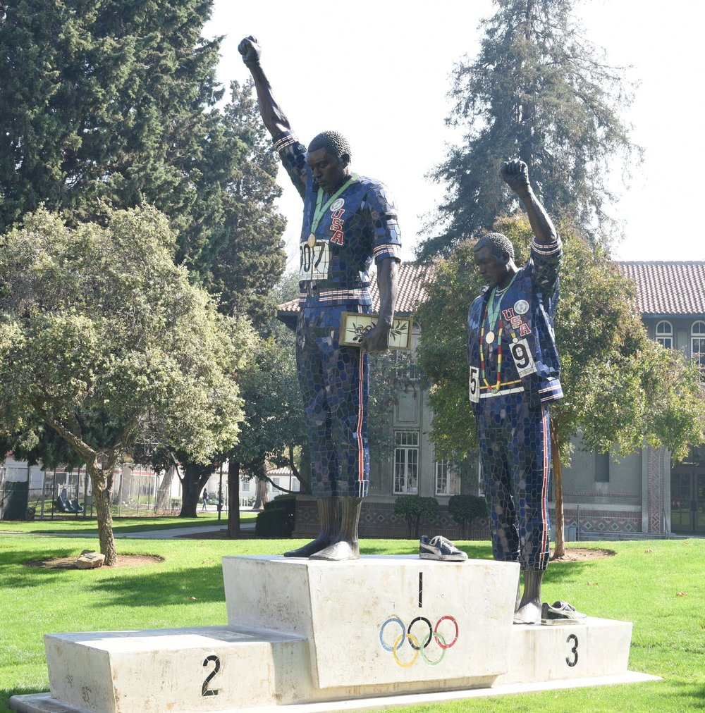 In 2005, San Jose State University honoured Tommie Smith and John Carlos with a sculpture depicting their famous gesture