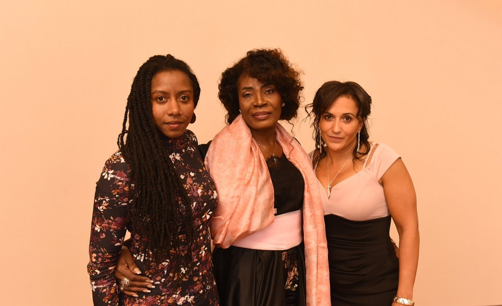 CABL award winners Hadiya Roderique (l), Patricia DeGuire & Angela Simmonds
