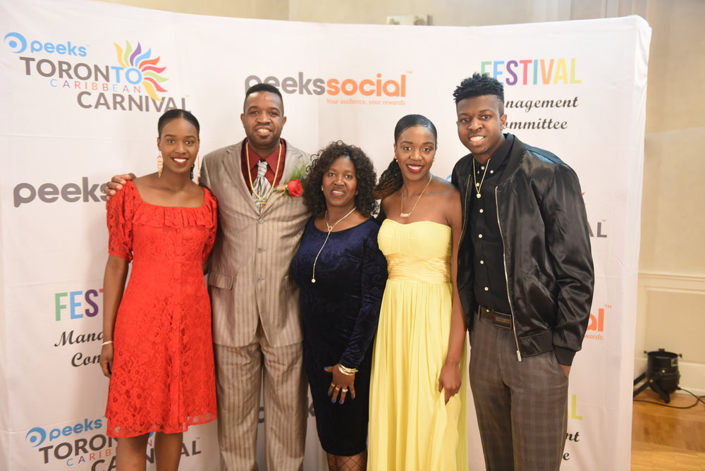 Ricardo (Brother Power) Keane and his wife Jacqueline with their children Shanice (l), Shardae & Alamor