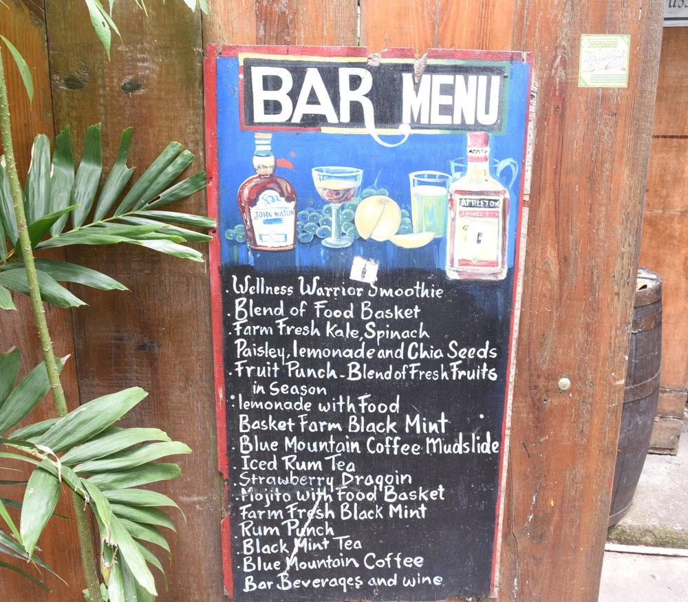 EITS cafe bar menu