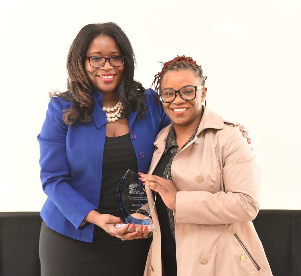Claudette McGowan (l) and BMO Financial Group senior consultant Oluchi Oti