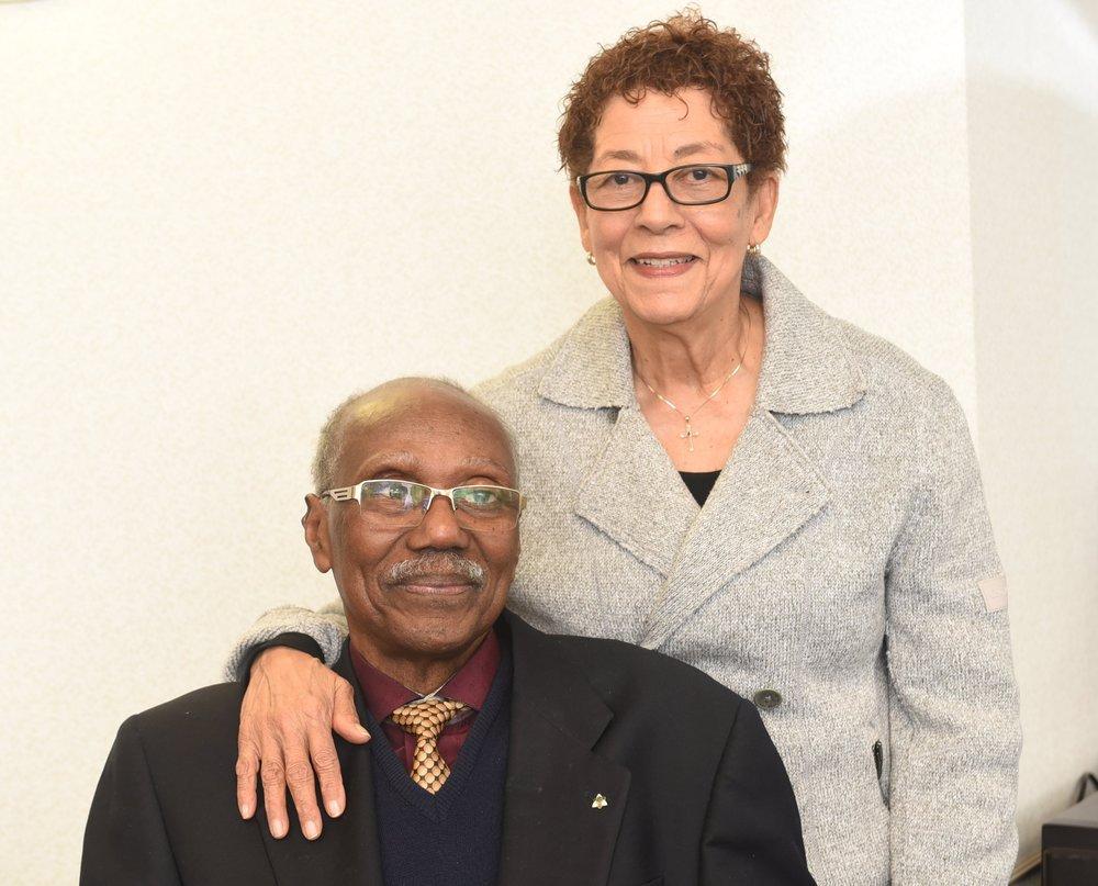 Ovid Jackson and his wife of 56 years, Verona