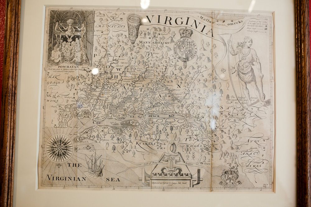 John Smith's map of Virginia. ( Click here for full description. )