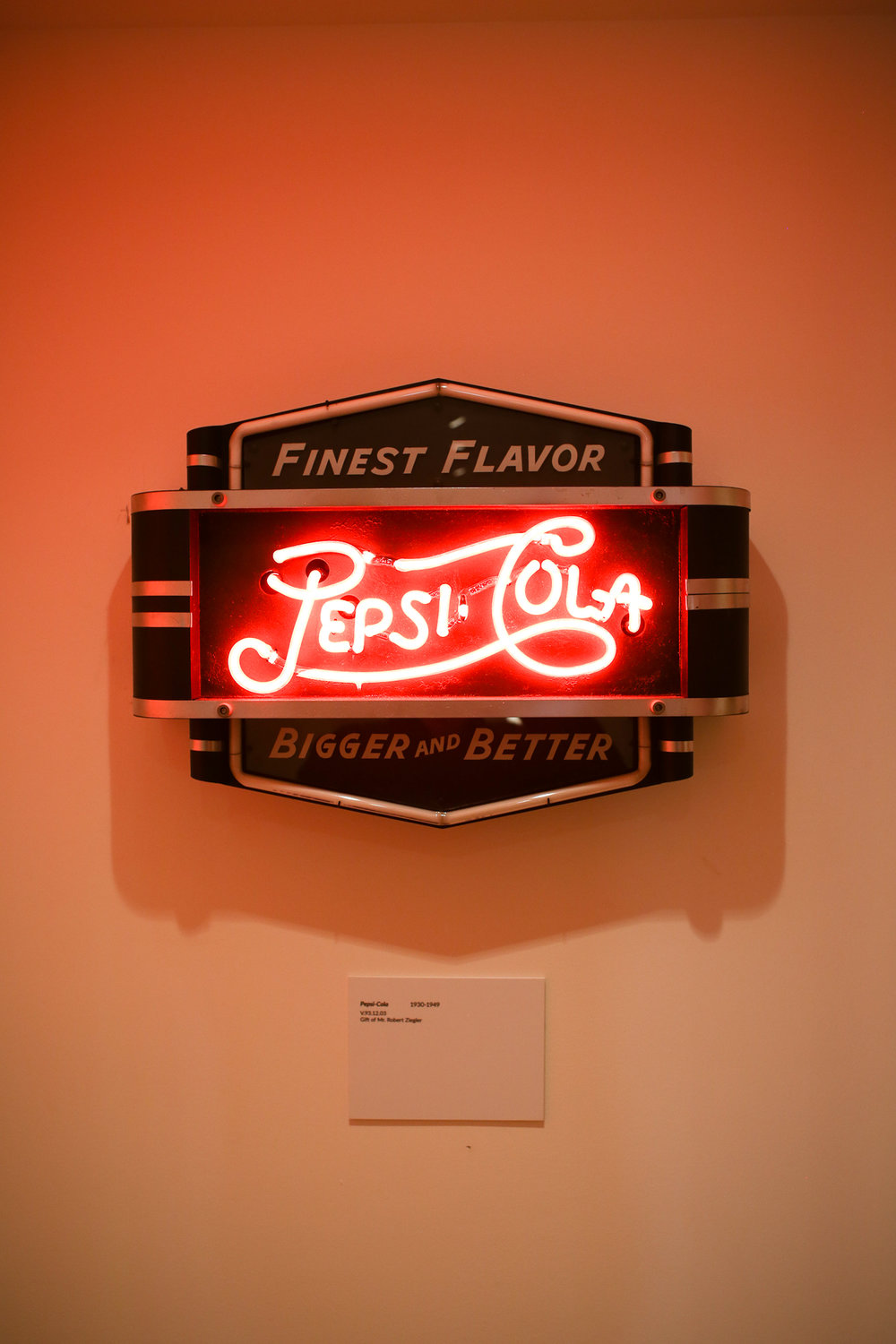 Early 1900s sign for Pepsi