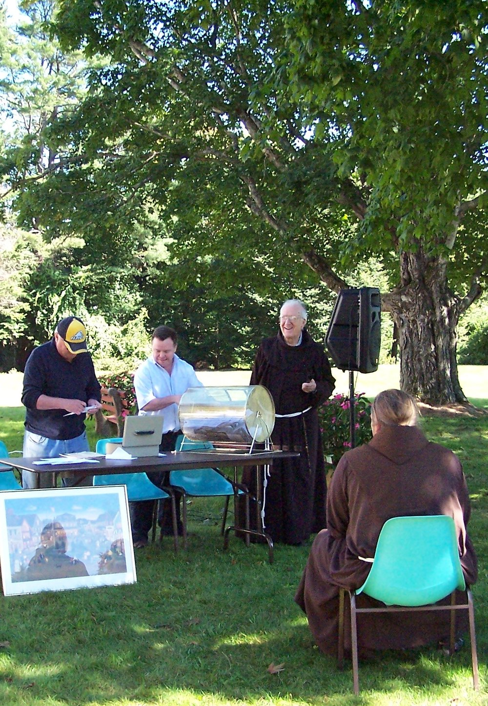 Labor Day Raffle Drawing & Picnic with Live Music - Sunday September 2, 2018The raffle tickets for the 17th Annual Summer Raffle are now available! To purchase tickets by mail, please fill out this FORM. Or tickets may be purchased after Mass on Sundays outside the Chapel entrance to St. Anthony's Monastery or at the Franciscan Guest House Monday through Friday 9 am to 5 pm. Payment by cash or check made out to the Franciscan Monastery.The Location for the annual raffle drawing and picnic is the Monastery lawn next to the Franciscan Guest House Hotel at 26 Beach Ave, Kennebunk ME 04064, 207-967-4865.Everyone is invited to enjoy one of the last days of summer on the Franciscan Monastery grounds with a picnic and free live music (TBD). Bring your own bag lunch or buy a picnic lunch provided by the Franciscan Guest House.Drawing of the winning raffle tickets will start at 1 pm on Sunday of Labor Day Weekend. Grand Prize was $5,000 in 2018 with many other prizes. All proceeds benefit the upkeep of the Franciscan Monastery. Raffle tickets may be purchased for $50 at the Franciscan Guest House weekdays, 9 am to 5 pm or after Sunday Mass starting in June or using the at raffle form. Tickets subject to availability. Please call 207-967-4865 to check ticket availability before mailing in raffle ticket order forms.