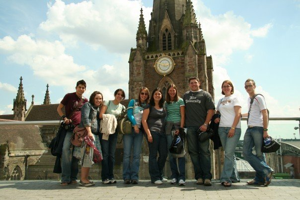 In Birmingham , UK in 2007 (I'm on the far right.) Photo by Zack Russell.