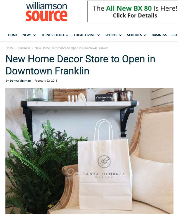 We are so excited to be relocating our offices and opening a retail store! click here for the full press release and facebook live with Donna Vissman from the Williamson Source.