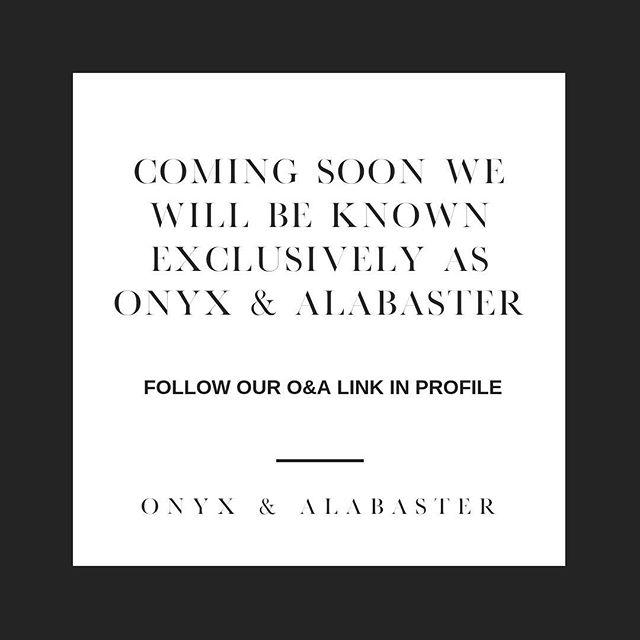 With the opening of our new home interiors market @onyxandalabaster we are thrilled to announce that coming soon our brands will merge as one! @tanyahembreedesign will be known and found at @onyxandalabaster. Nothing's changing...we still still offer interior design services and an amazing interiors market with accessories, furnishings, artwork and more. We just want it to be simple, one brand.  ONYX & ALABASTER will soon be our new name. Be sure to follow us to stay connected (link in profile). 🖤 Stay tuned for more details coming soon!